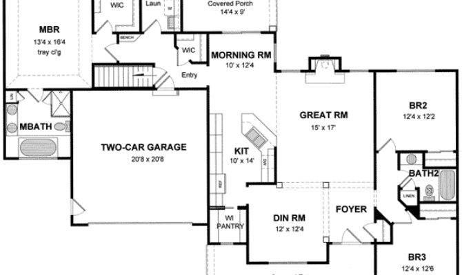 Open Split Bedroom House Plan Architectural