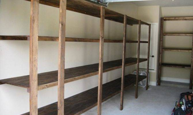 Organize Garage Shelf Plans Metal Shelving