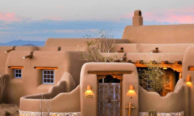 Original Classic New Mexico Homes Spanish Home Exterior Blue Windows