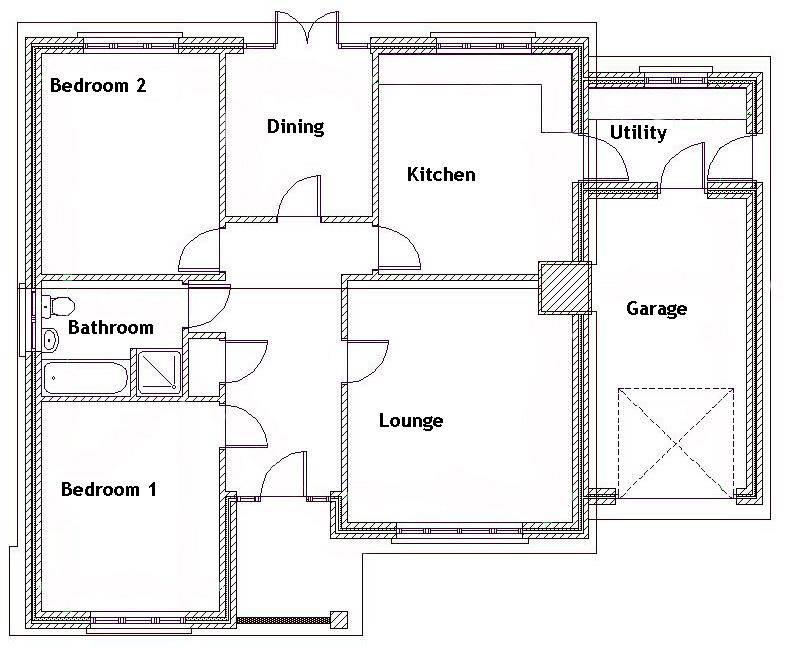 Our Sale Office Arrange Bedroom Bungalow Floor Plan Home Plans Blueprints 10017