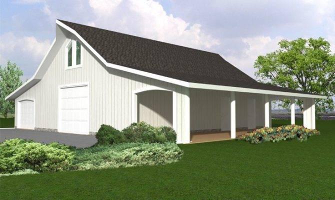 Outbuilding Plans Garage Plan Shop Covered