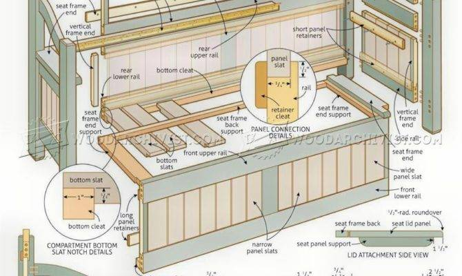 Outdoor Benches Storage Plans