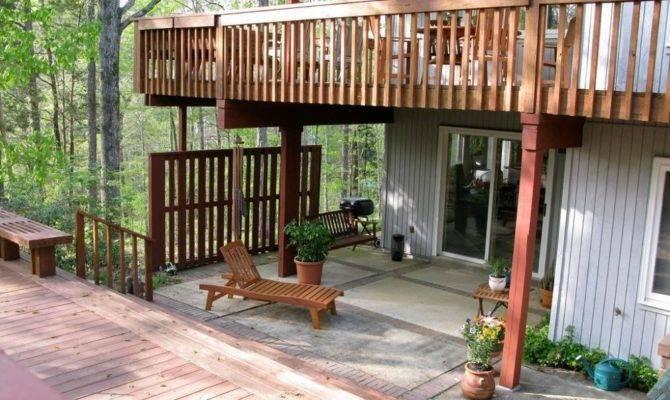 Outdoor Decks Here Second Story Deck