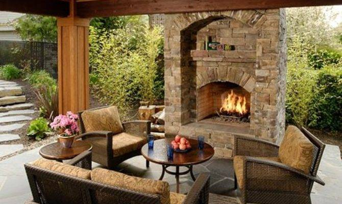 Outdoor Gas Fireplaces Landscaping Network