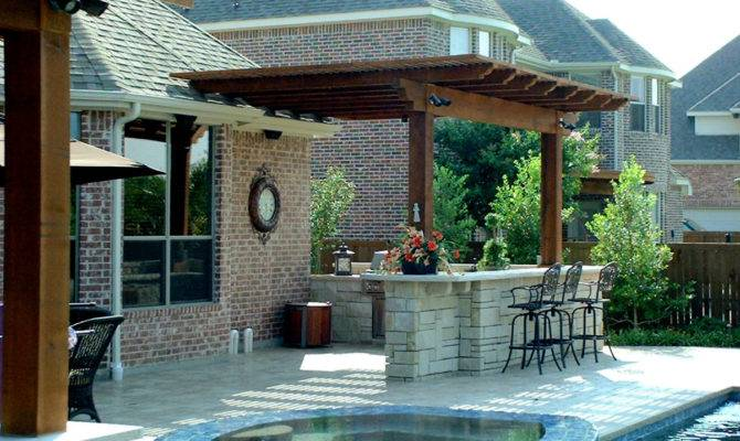 Outdoor Kitchen Designs Pool Home