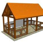 Outdoor Pavilion Plans Diy Shed Wooden