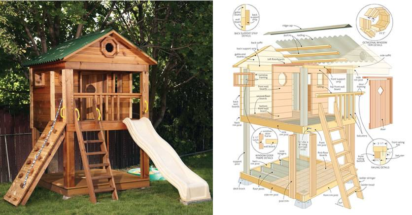 Outdoor Playhouse Plans Loft Your