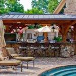 Outdoor Pool Bar Designs Bring Out Beauty