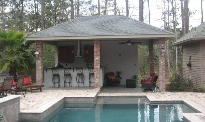 Outdoor Pool House Captivating Best Designs