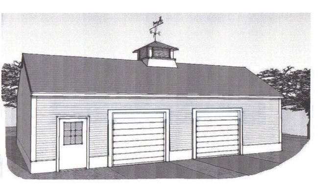 Oversized Two Stall Car Garage Building Plans