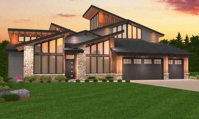 Pacific Northwest Contemporary House Plans