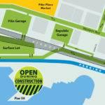 Parking Front Aquarium Seawall Construction Map