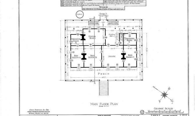 Parlange Plantation House New Roads Louisiana First Floor Plan