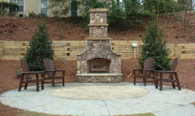 Patio Chimney Garden Designs
