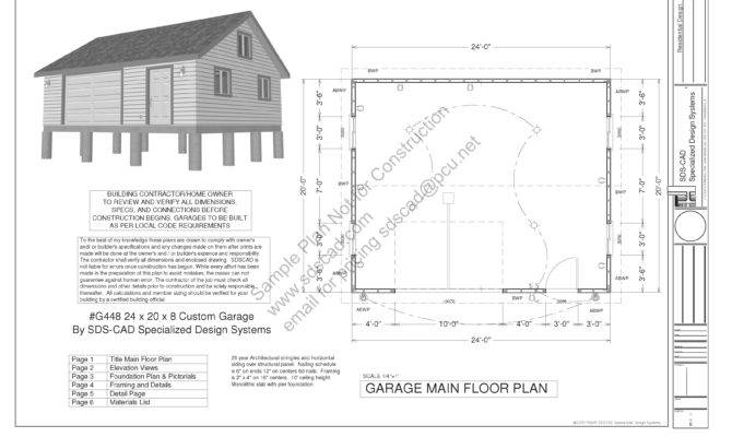 Pdf Garage Plans Blueprints