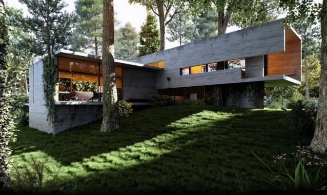Peeping Over Lush Grassy Verge Doubly Rectangular Residence