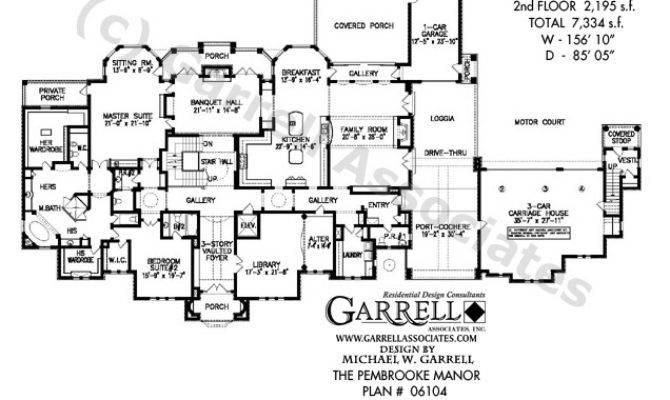 Pembrooke Manor House Plan Estate Plans