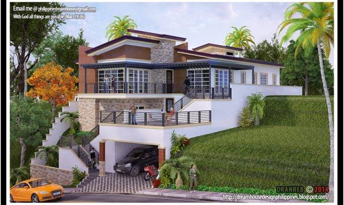 Philippine Dream House Design Sloping Land