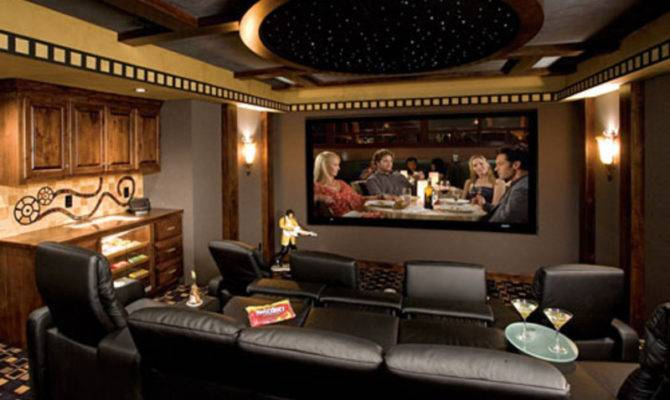 Photos Contemporary Luxury Home Theater Interior