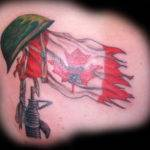 Pin Canadian Flag Tattoos Designs Cool Bonbaden Pinterest