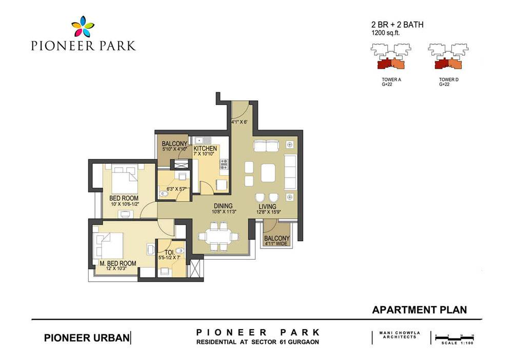 Pioneer Park Floor Plan Sector Gurgaon