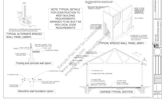 Pitch Pdf Garage Plans Blueprints Sds