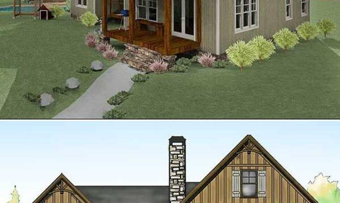 Plan Bedroom Dog Trot House Narrow Lot