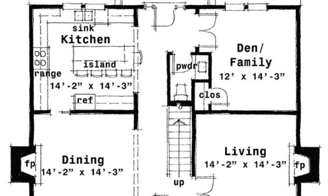 Plan Center Hall Colonial House Pinterest