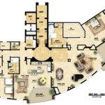 Plan Colored Floor Illustration