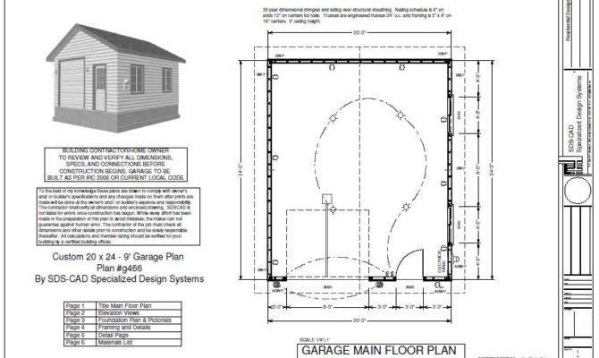 Plan Custom Garage Blueprint