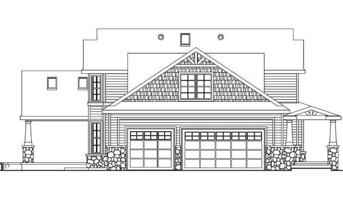 Plan Elevation House Homes Floor Plans