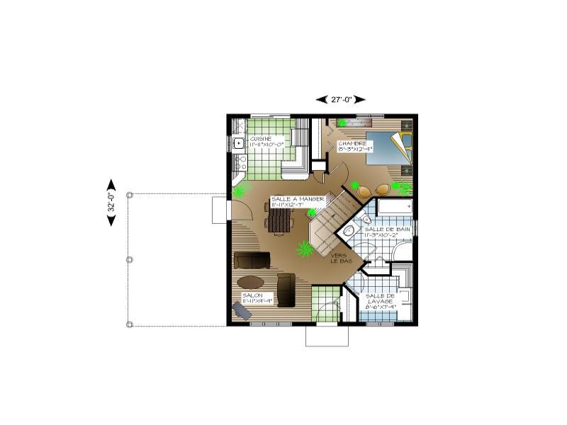 Plan Maison Novation Type Plain Pied Home Plans Blueprints