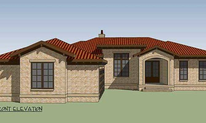 Plan One Level Tuscan Treasure Architectural