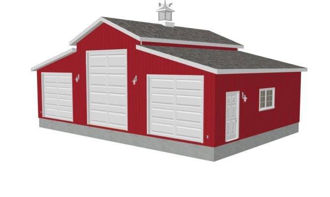 Plan Sides Center Garage