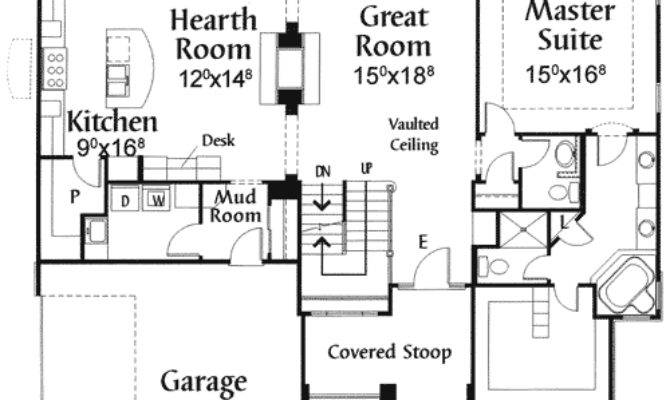 Plan Two Sided Fireplace Architectural Design