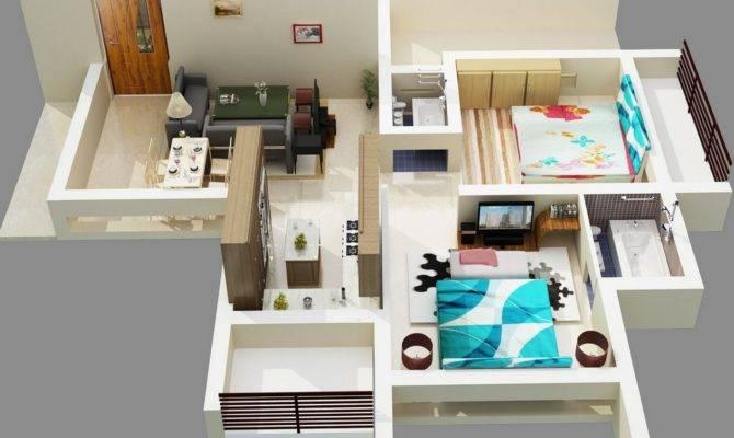 Planos Apartamentos Dos Dormitorios Tikinti