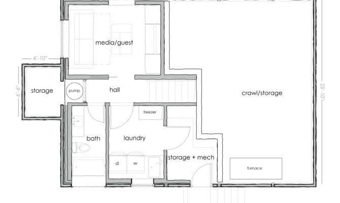 Plans Basement Floor Basic Open Home