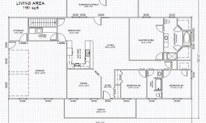 Plans Basement Floor Ranch House Plan