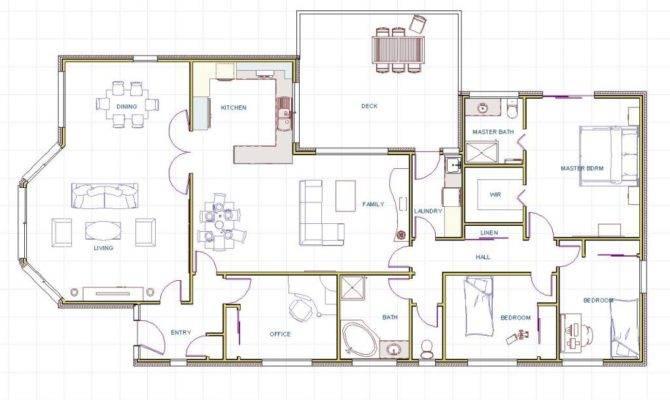 Plans Beach House Floor Contemporary