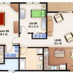 Plans Bedroom Floor Two Apartment