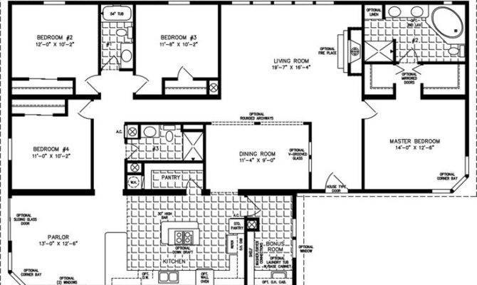 Plans Bedrooms Mobiles Manufactured Modular Floor