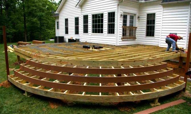 Plans Building Wooden Deck Floor