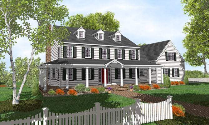 Plans Colonial Farmhouse Home