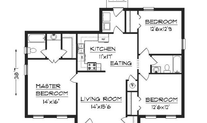 Plans Furthermore Simple House Together Floor Plan