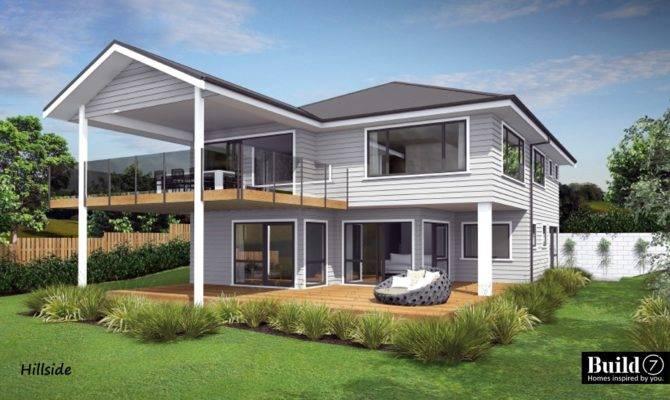 Plans Houses Built Slope