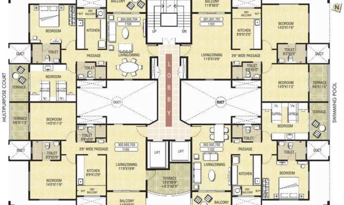 Plans Housing Design Resort Residential Buildings