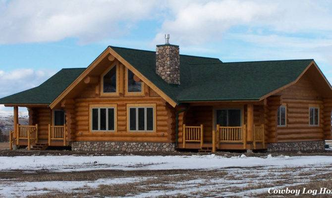 Plans Lofts Can Used Ranch Style Log Homes Cowboy