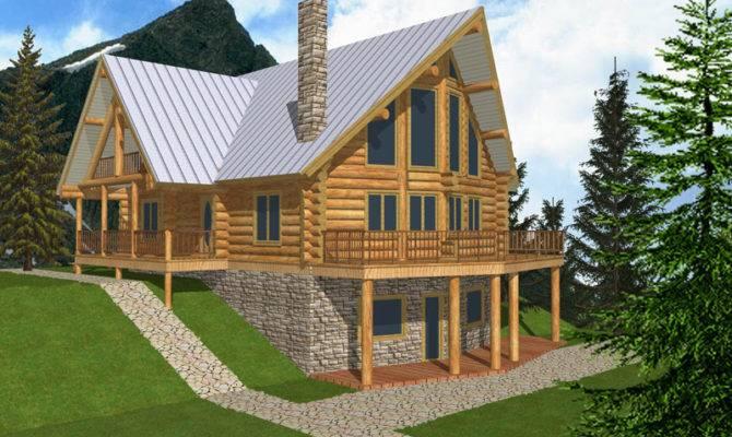 Plans Log Cabin House Modern Mountain Home