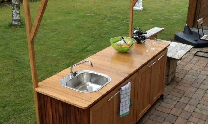 Plans Make Simple Outdoor Kitchen Interior
