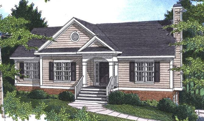 Plans Neoclassical Home Ranch House Southern
